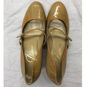 Mustard Mary Jane Heels